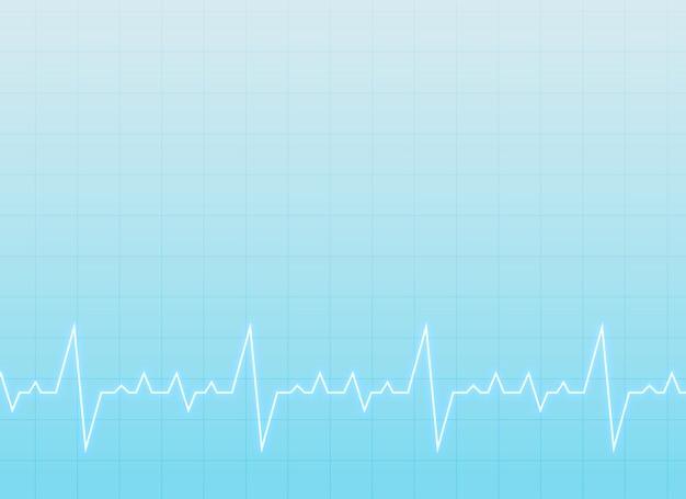 Sfondo medico e sanitario con elettrocardiogramma Vettore gratuito