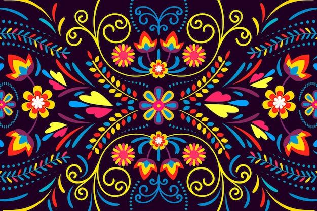 Sfondo messicano colorato Vettore gratuito