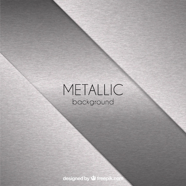 Sfondo metallico con forme astratte Vettore gratuito
