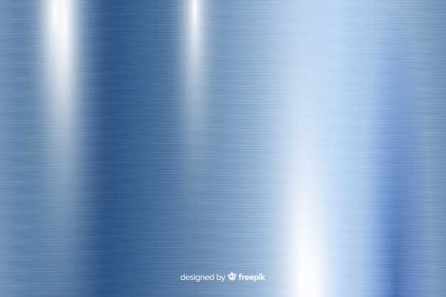Sfondo metallico trama con linee verticali blu Vettore gratuito