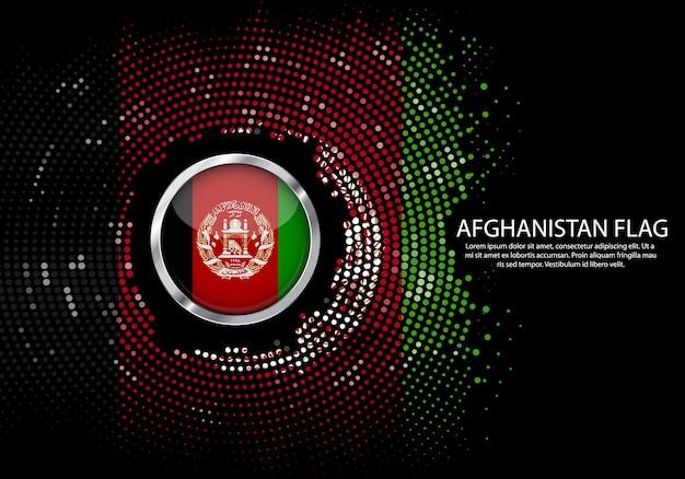 Sfondo mezzitoni modello sfumato o led luce al neon sullo stile puntino rotondo dell'afghanistan Vettore Premium