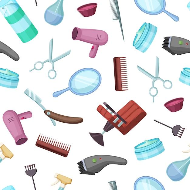 Sfondo modello parrucchiere o barbiere Vettore Premium