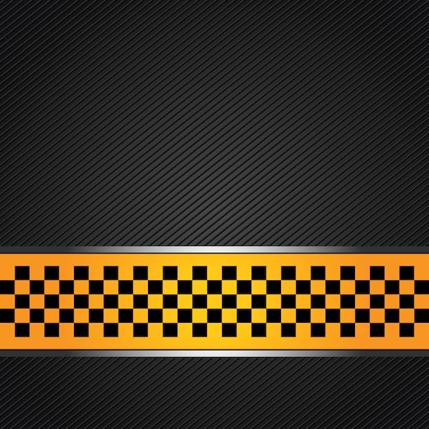 Sfondo modello taxi Vettore Premium