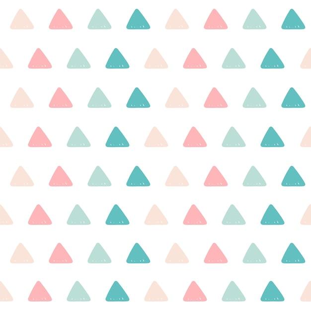Sfondo modello triangolo. Vettore Premium