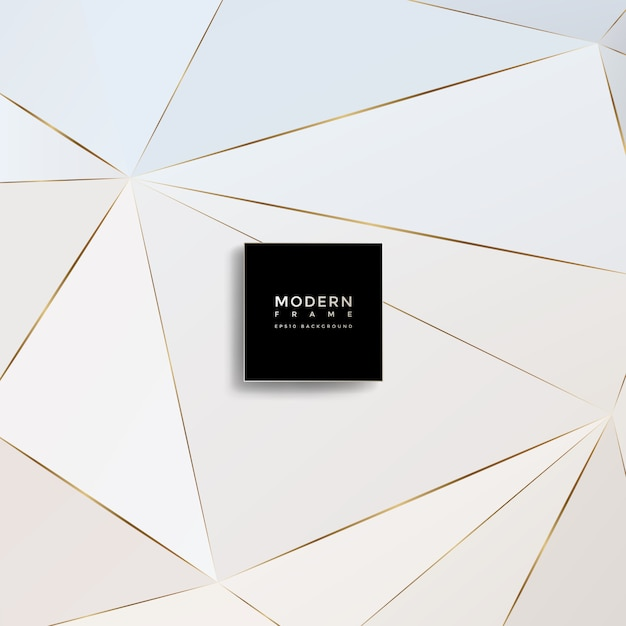 Sfondo moderno, forme geometriche astratte Vettore Premium