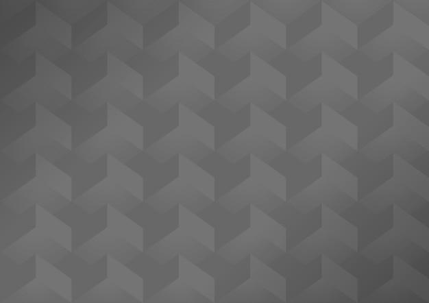 Sfondo moderno geometrico grigio 3d Vettore gratuito