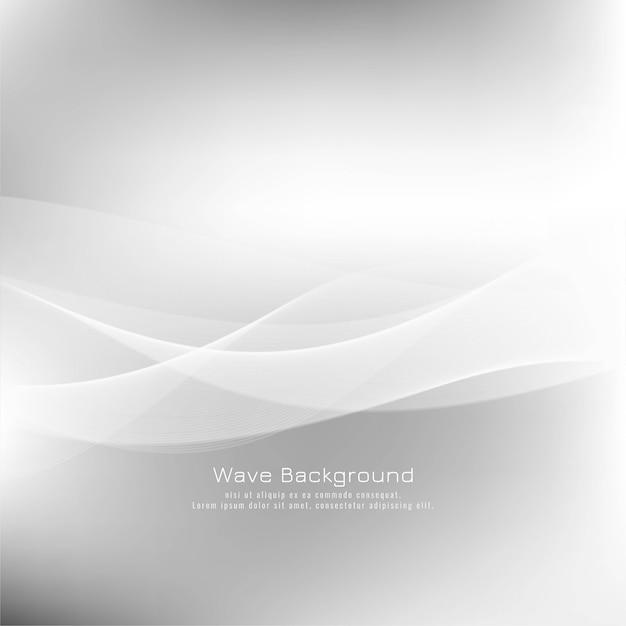 Sfondo moderno grigio onda astratta Vettore gratuito