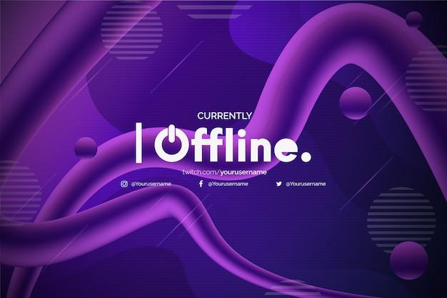 Sfondo moderno twitch offline Vettore gratuito