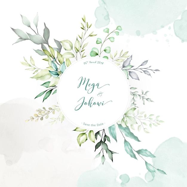 Sfondo multiuso per la cornice floreale dell'acquerello Vettore Premium