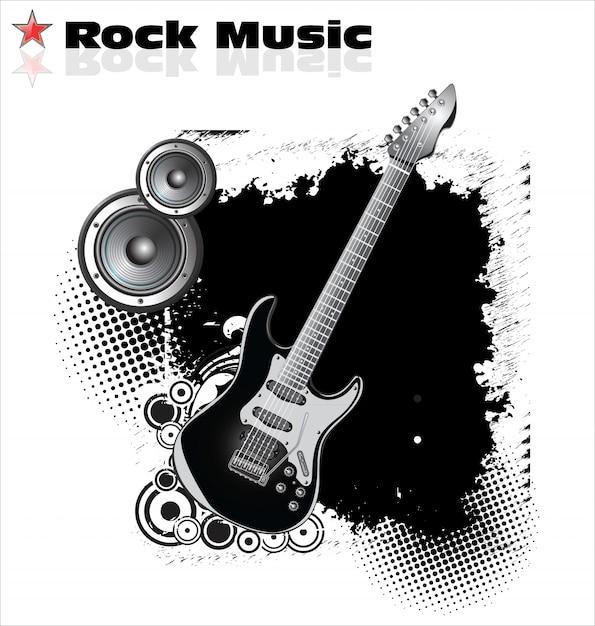 Sfondo musica rock Vettore Premium