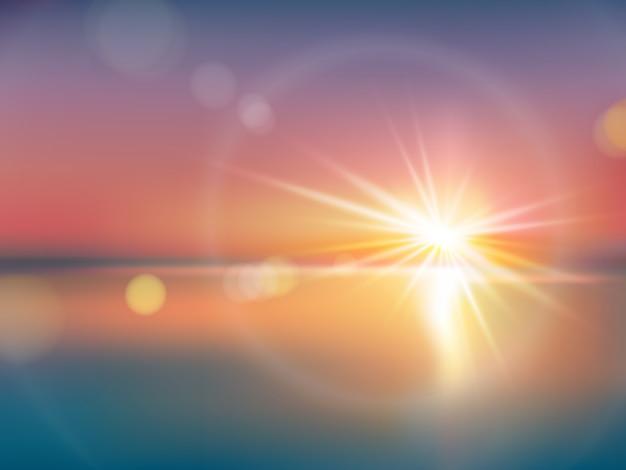 Sfondo naturale con luce solare intensa con riflesso - Specchi riflettenti luce solare ...