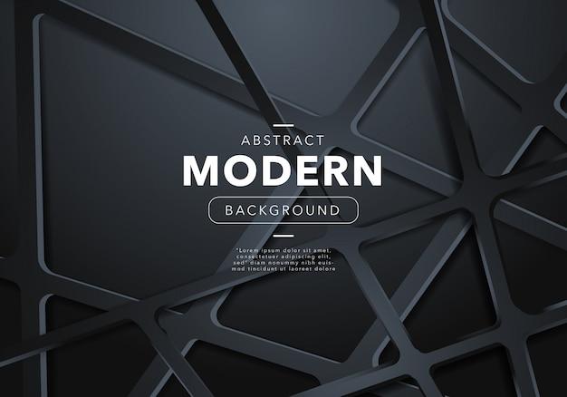 Sfondo nero astratto moderno con forme Vettore gratuito