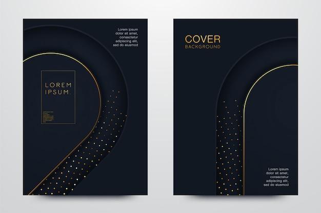 Sfondo nero con ombre realistiche Vettore Premium