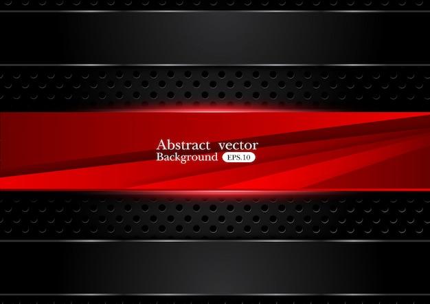 Sfondo nero di tecnologia Vettore Premium