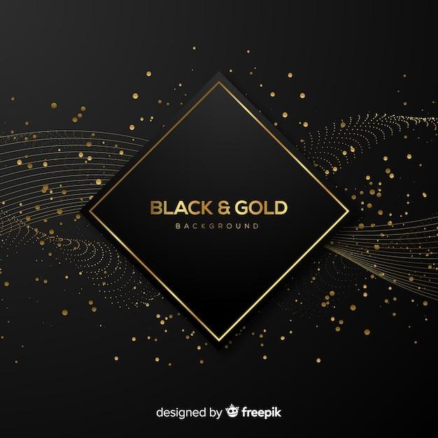 Sfondo nero e oro Vettore gratuito