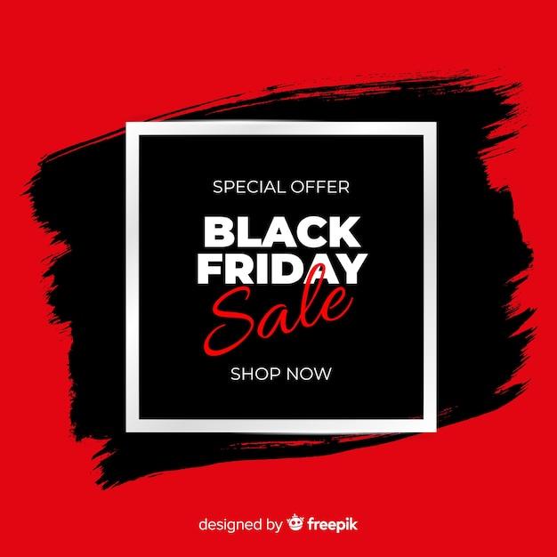 Sfondo nero e rosso di vendita venerdì nero Vettore gratuito