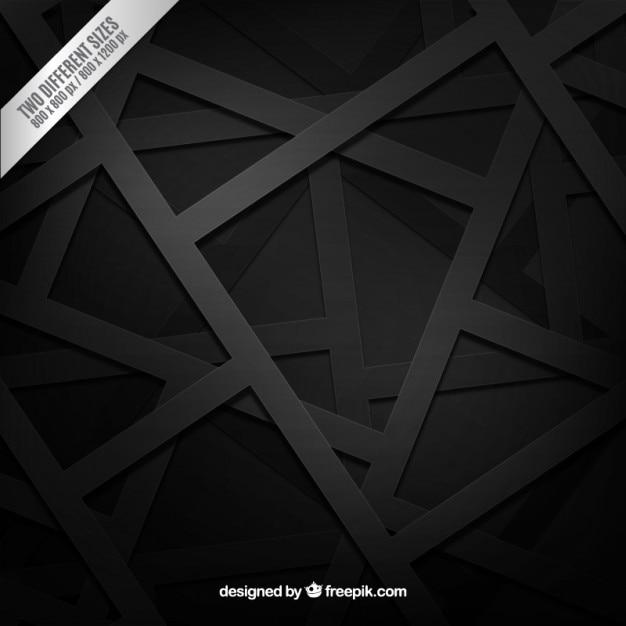 Sfondo nero in stile geometrico Vettore gratuito