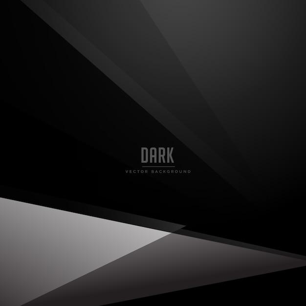 Sfondo nero scuro con forma geometrica grigia Vettore gratuito