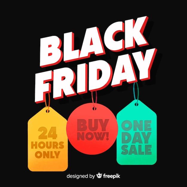 Sfondo nero venerdì Vettore gratuito