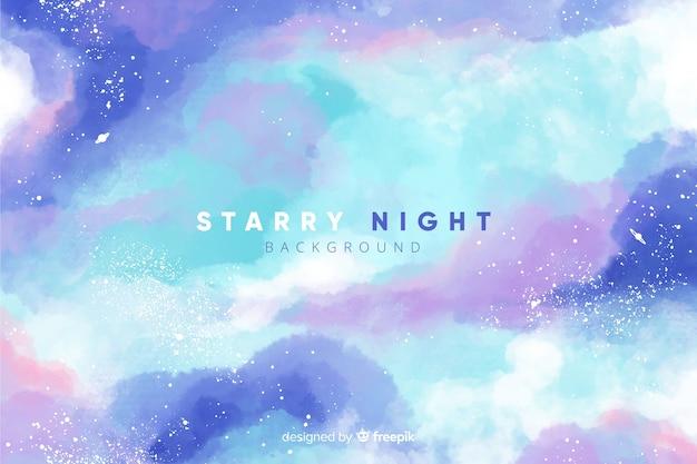 Sfondo notte stellata Vettore gratuito