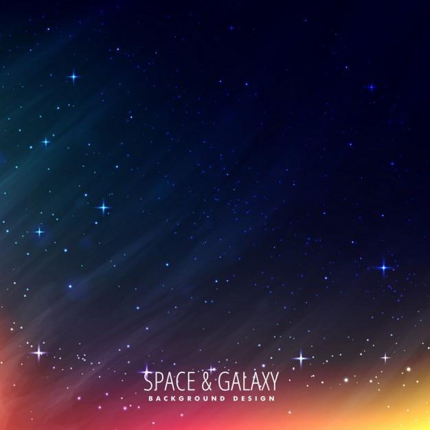 Sfondo notte universo Vettore gratuito