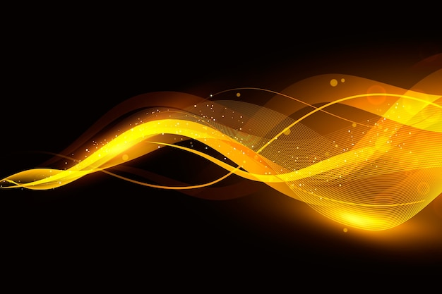 Sfondo onda splendente con particelle lucide Vettore gratuito