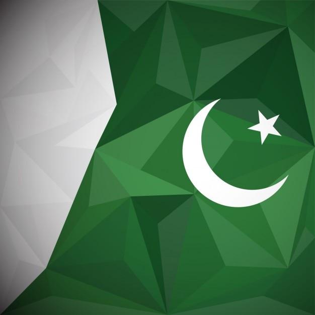 Sfondo pakistan poligono Vettore gratuito