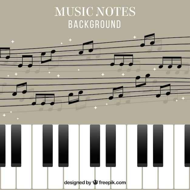 sfondo piano e pentagramma con note musicali scaricare