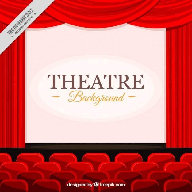 sfondo piatto del teatro Vettore gratuito
