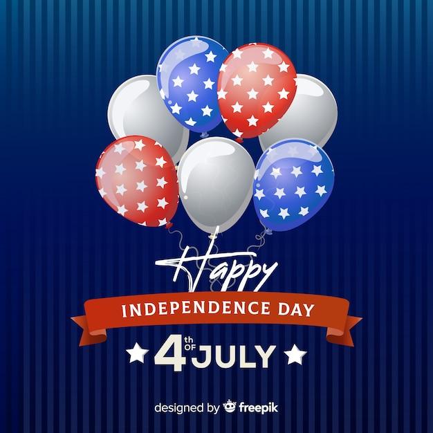 Sfondo piatto giorno dell'indipendenza Vettore gratuito