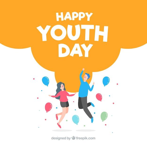 Sfondo piatto giorno della gioventù Vettore gratuito