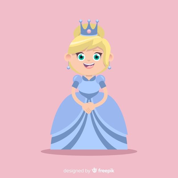 Sfondo piatto principessa Vettore gratuito