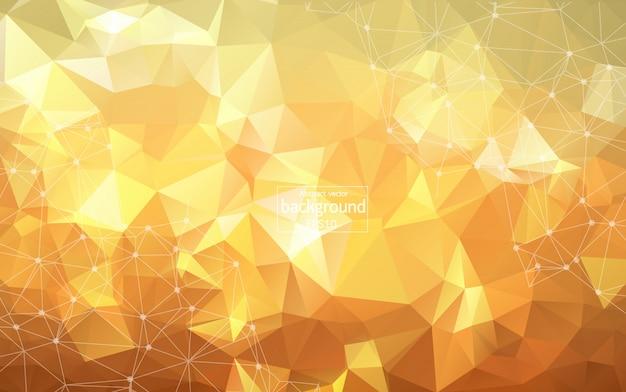 Sfondo poligonale arancione geometrico Vettore Premium