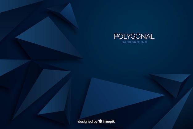 Sfondo poligonale blu scuro Vettore gratuito