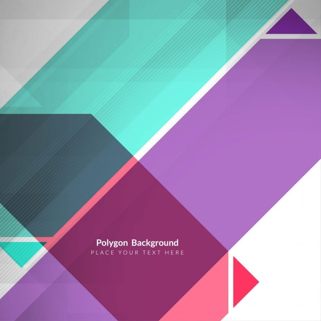 Sfondo poligonale grigio con cinghie colorate Vettore gratuito