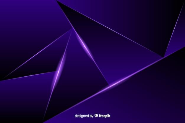 Sfondo poligonale scuro di lusso Vettore gratuito