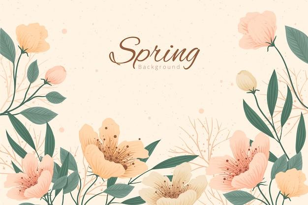 Sfondo primavera vintage Vettore gratuito