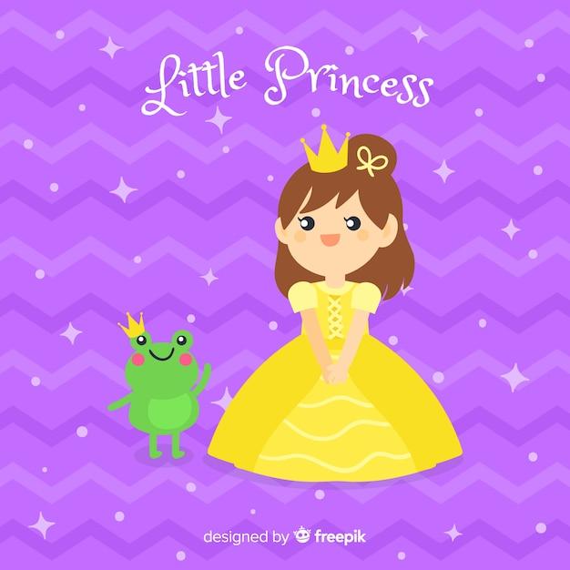Sfondo principessa disegnato a mano Vettore gratuito