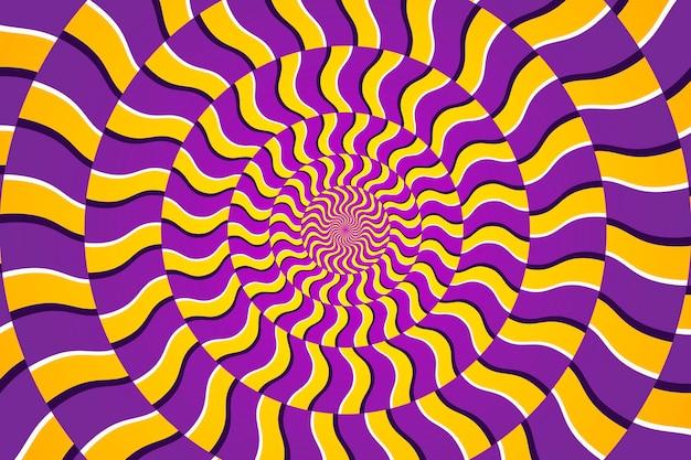 Sfondo psichedelico a trama circolare dinamica Vettore gratuito