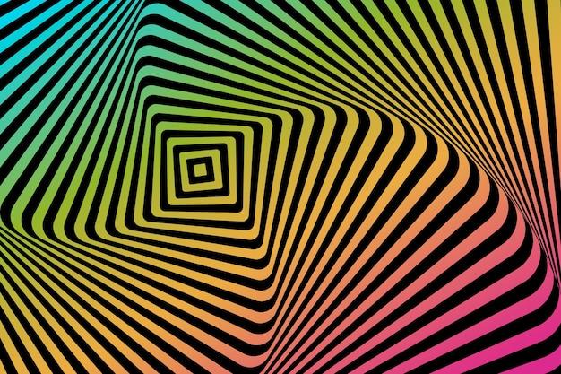 Sfondo psichedelico di illusione ottica Vettore gratuito
