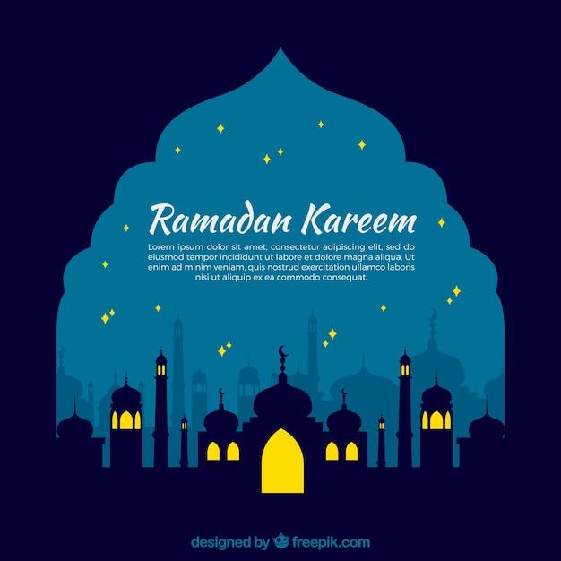 sfondo ramadan Nocturnal Vettore gratuito
