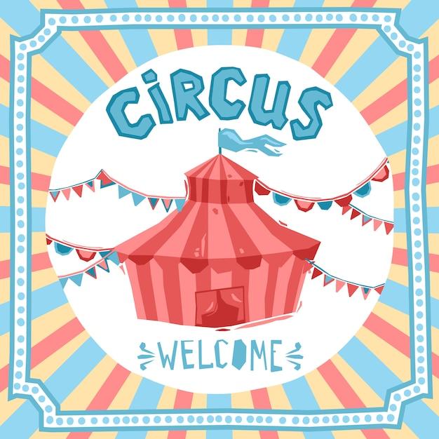 Sfondo retrò circo Vettore gratuito