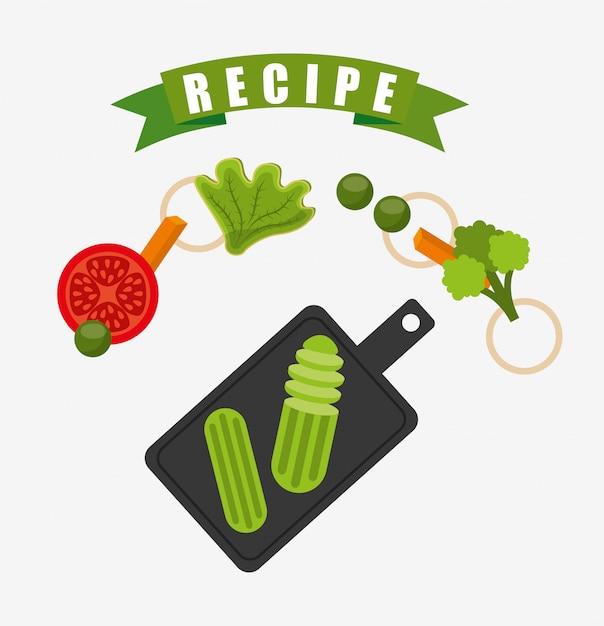 Sfondo ricetta di cucina Vettore gratuito