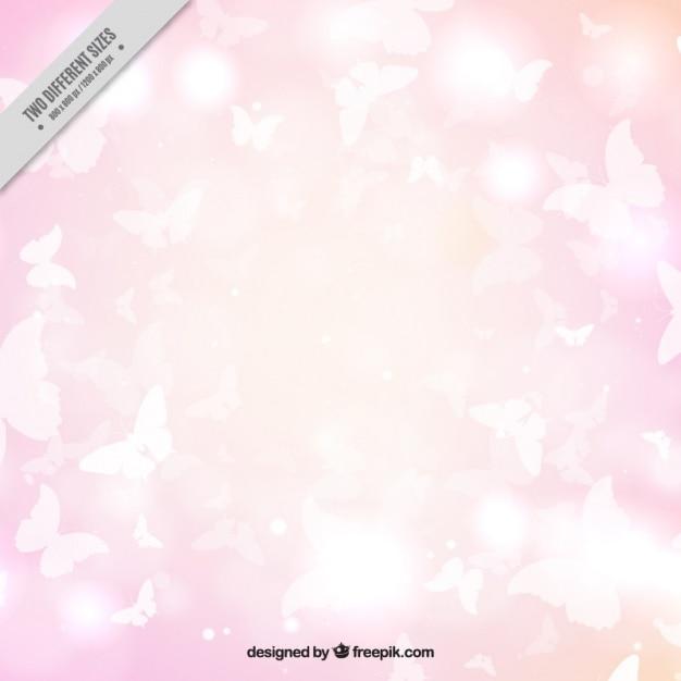 Sfondo Rosa Di Farfalle Bianche Scaricare Vettori Gratis
