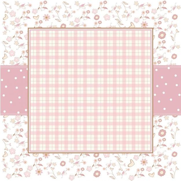 Sfondo rosa romantica modello con piccoli fiori Vettore gratuito