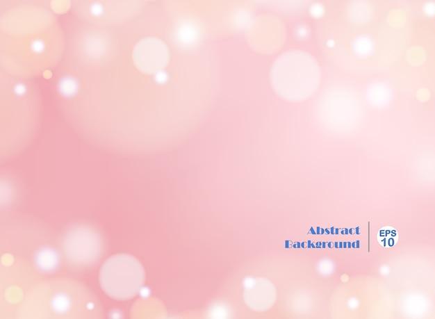 Sfondo Rosa Sfumato Chiaro Con Bokeh Rotondo Scaricare Vettori Premium
