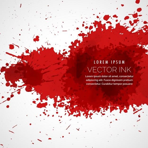 Sfondo rosso con splatter Vettore gratuito
