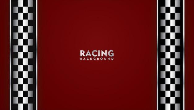 Sfondo rosso da corsa, sfondo quadrato da corsa Vettore Premium