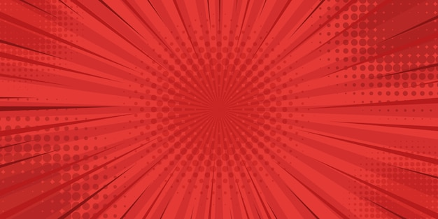 Sfondo rosso stile vintage retrò con raggi di sole Vettore Premium