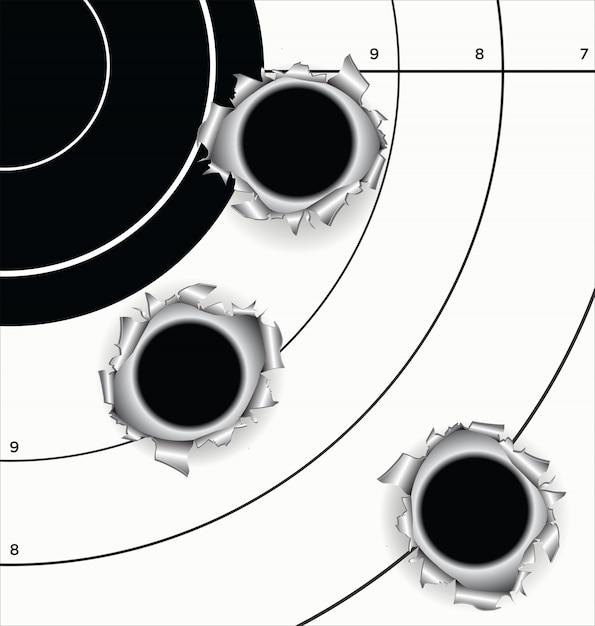 Sfondo sala pallottola Vettore Premium